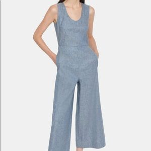 Theory linen denim jumpsuit NEW size 8